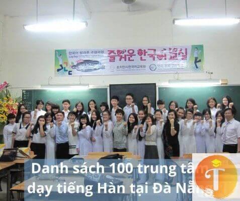 Danh sách 100 trung tâm dạy tiếng Hàn tại Đà Nẵng